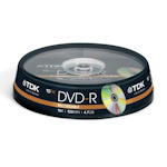 Диск TDK DVD-R. 4.7 Gb, CakeBox 10 шт. упак