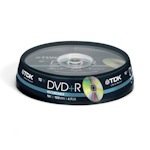 Диск TDK DVD+R. 4.7 Gb, CakeBox 10 шт. упак