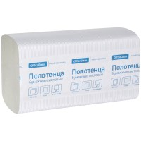 Полотенца бумажные OfficeClean Professional 262662, 21х21.6, V-сл., H3, цвет натуральный, 1-сл. 250 л
