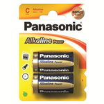 Батарейки Panasonic Alkaline Power LR14, C, A343 BL2, 1,5V